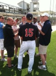 Glen Perkins meets with media (Courtesy of Mike Herman)