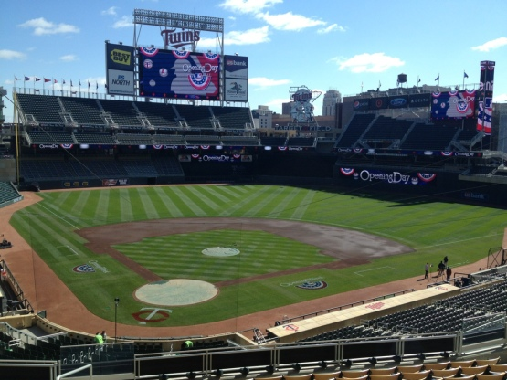 Opening Day at Target Field