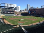 Ballpark morning before Opening Day