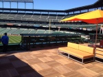 New center field seating area