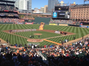 Orioles come down orange carpet