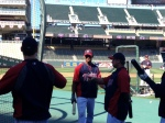 Buxton finishes his first round of BP