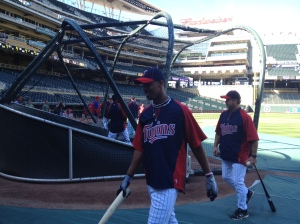Buxton walking off after BP