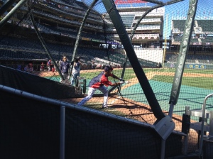 Buxton works on bunting