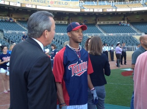Buxton meets Dick Bremer