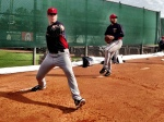 May and Hendriks throw bullpens