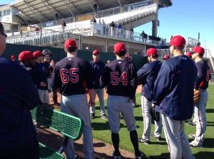 Rick Anderson addresses pitchers