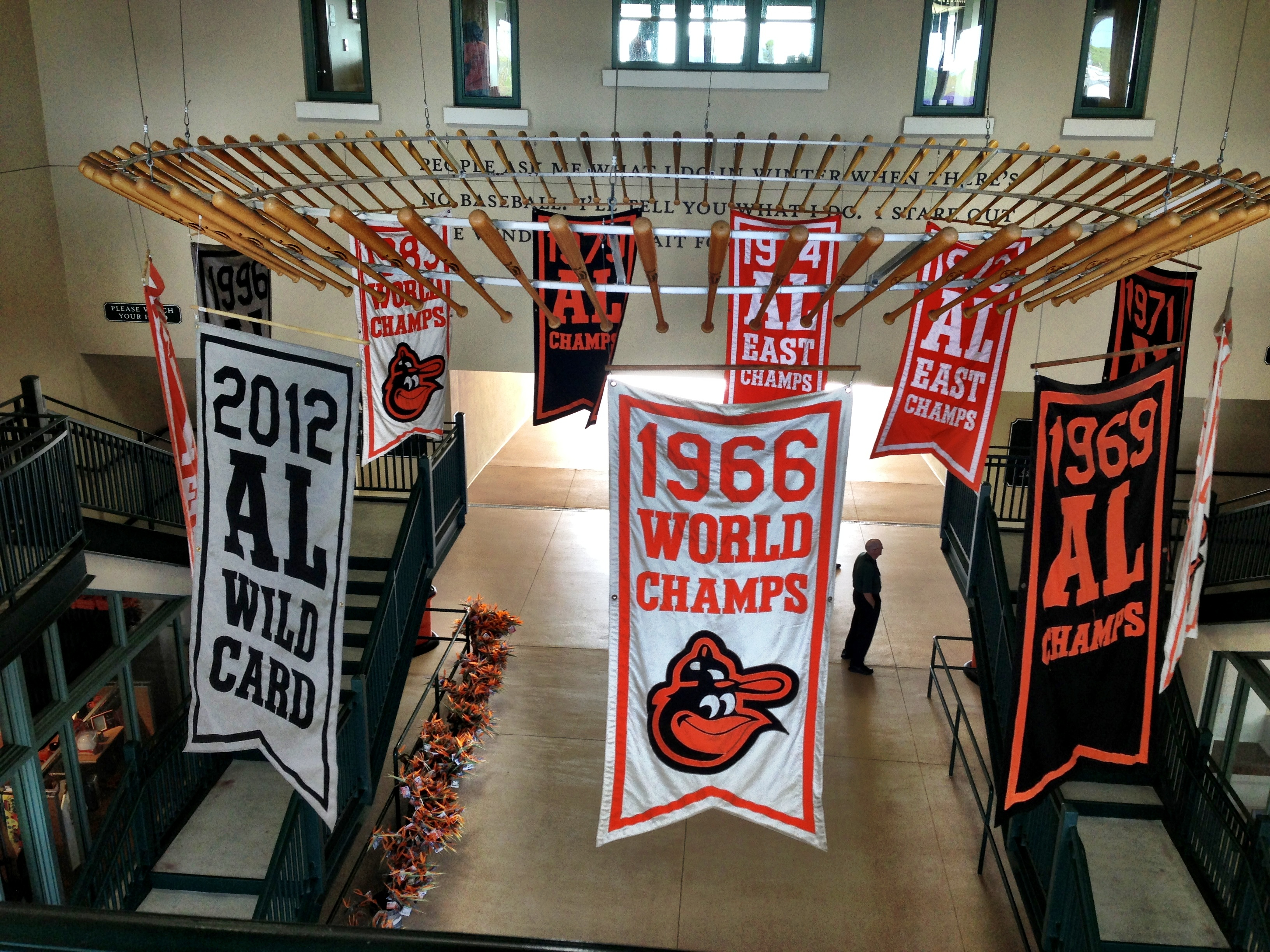 Orioles banners in main entrance