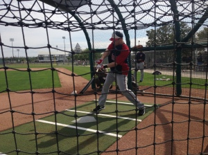 Justin Morneau taking BP