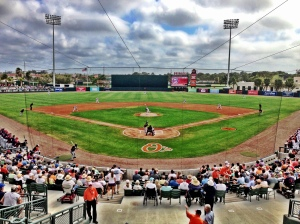 The first pitch of Spring Training