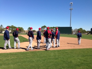 Twins work on baserunning