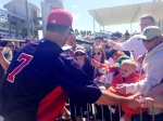 Mauer signs for Twins fans