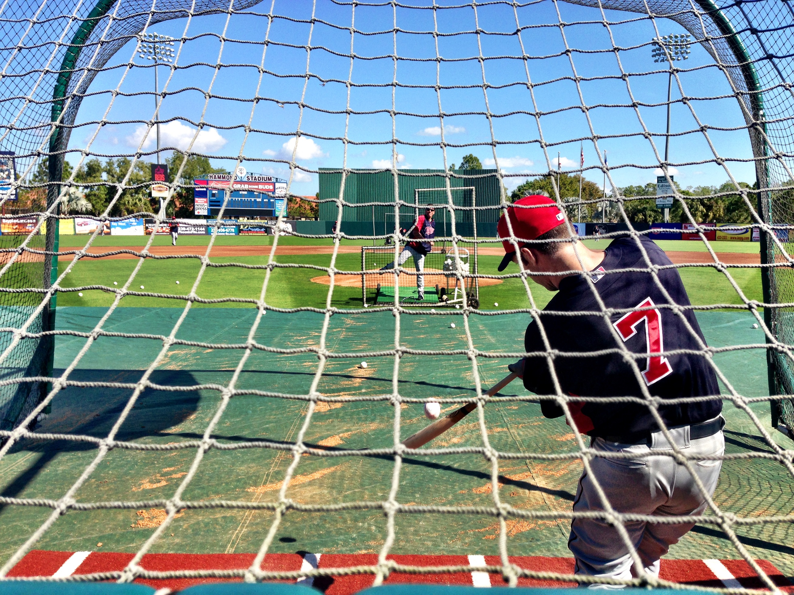 Joe Mauer taking batting practice