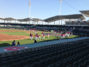 Red Sox taking BP