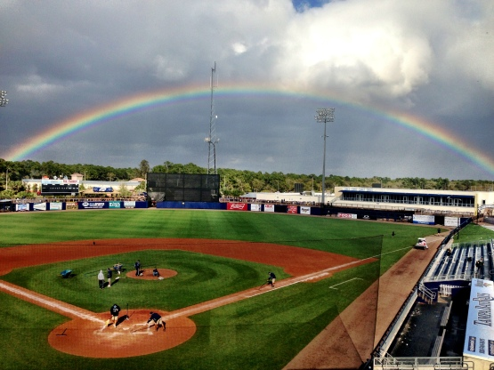 Rainbow over Charlotte Sports Park