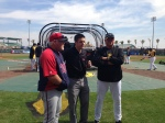 Gardenhire talks with Robby Incmikoski and Clint Hurdle