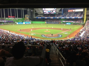 View from home plate