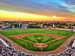 Hammond Stadium at sunset