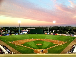 Hammond Stadium under the lights