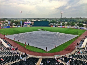 Tarp out on the field