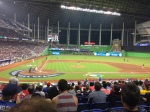View from first-base line