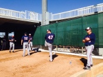 Nolasco throws bullpen