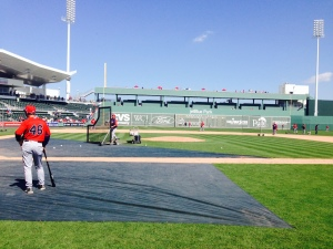 View of Green Monster from field