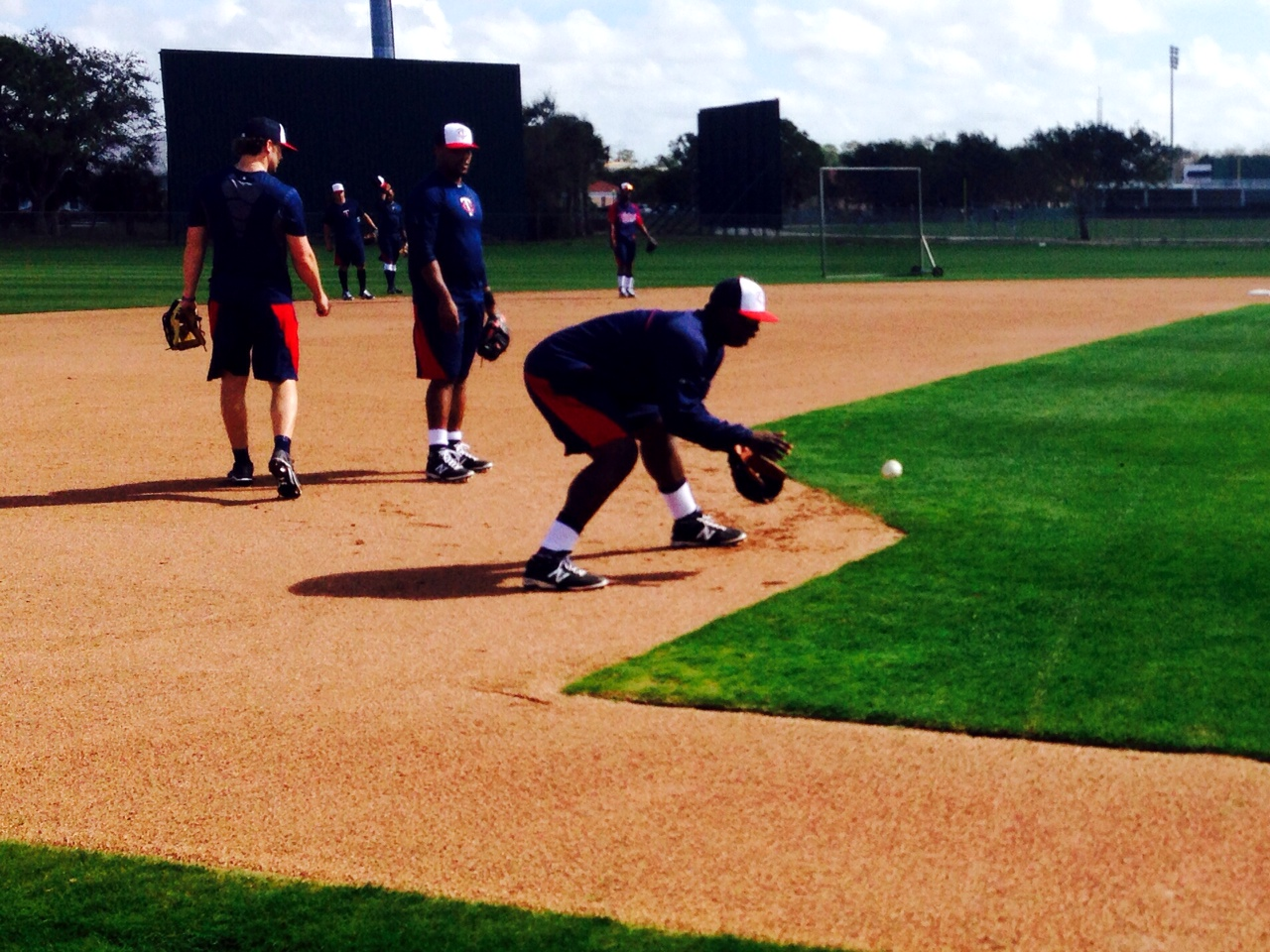 Sano taking grounders