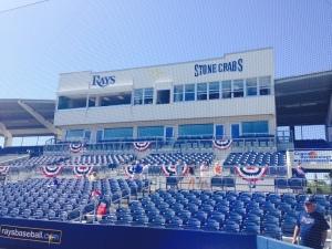 View of Charlotte Sports Park pressbox