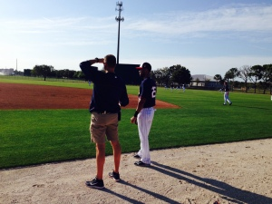 Florimon waits to head out to take grounders