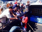 Byron Buxton signs for the fans