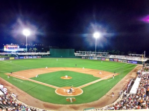 The first night game of spring at Hammond