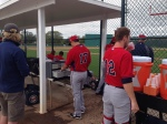 Twins dugout before B game