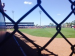 View from behind the RF fence