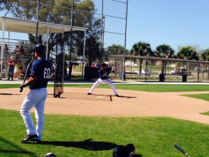 Nolasco works on bunting
